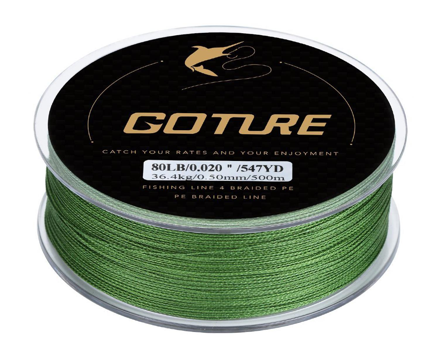 Goture 8-80LB Superpower Braided Fishing Line for Spinning Reel